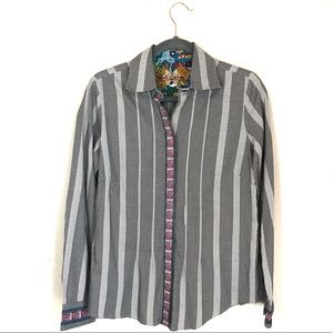 Robert Graham houndstooth embroidered button down